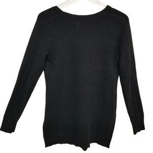 Athleta Black Oversized Thermal Top Merino Wool S